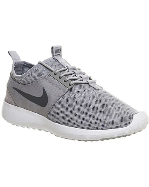 nike juvenate mesh trainers in gray wolf grey lyst. Black Bedroom Furniture Sets. Home Design Ideas
