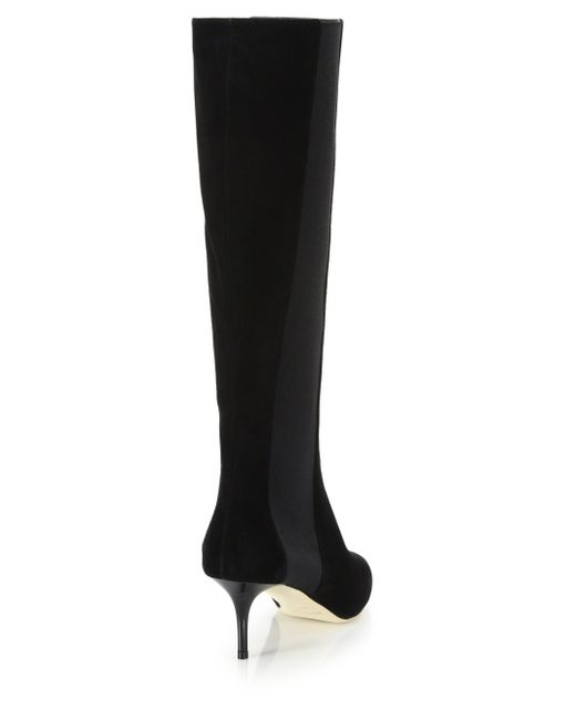 jimmy choo faith 65 suede knee high boots in black save