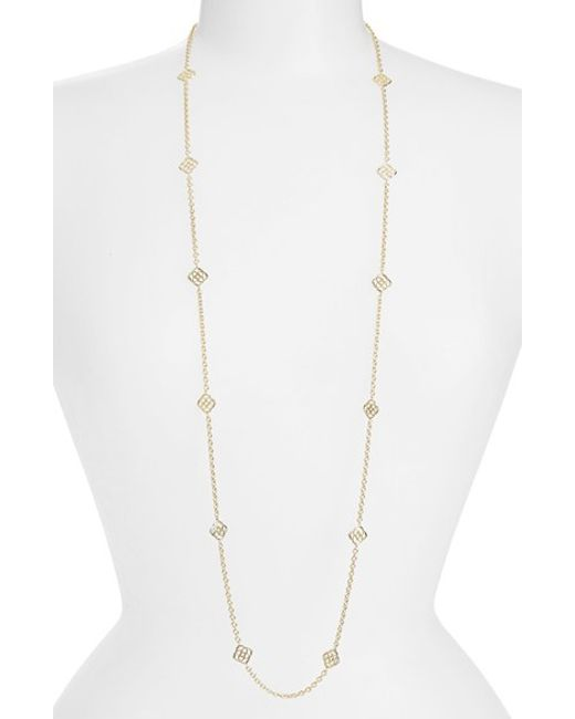 Kendra Scott | Metallic 'devalyn' Long Station Necklace | Lyst