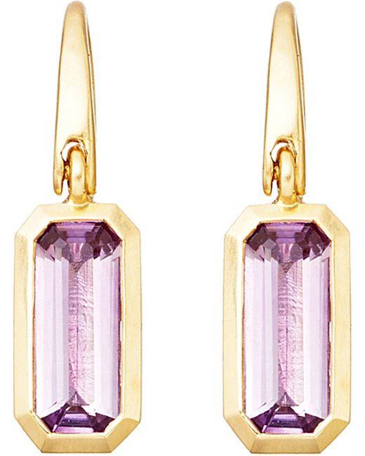Astley Clarke | Purple 18ct Gold Vermeil Amethyst Drop Earrings | Lyst