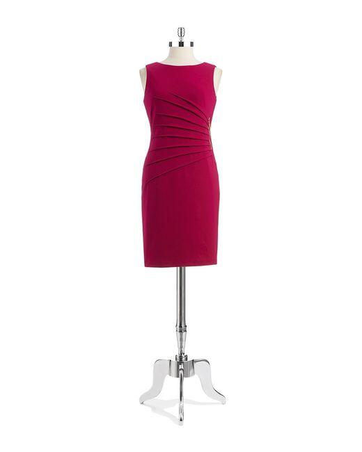 Ivanka Trump | Multicolor Sunburst Side-pleat Dress | Lyst