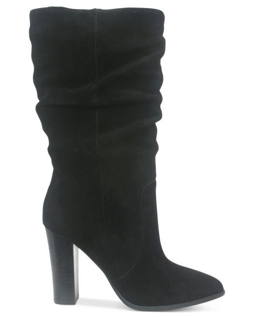Tahari   Black Alanna Suede Slouchy Mid-calf Boots   Lyst