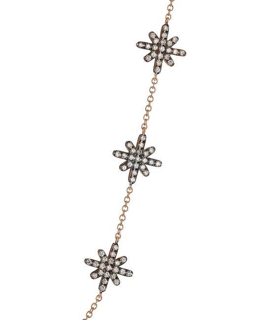 Diane Kordas | Pink Starburst 18kt Rose Gold Body Chain With White Diamonds | Lyst