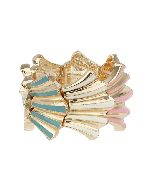Mikey   Pink Elastic Shell Design Bracelet   Lyst