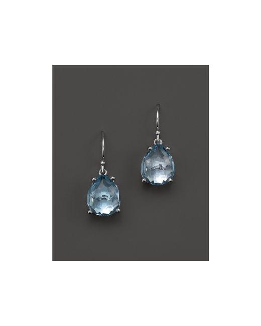 Ippolita | Sterling Silver Rock Candy Pear Drop Earrings In Blue Topaz | Lyst