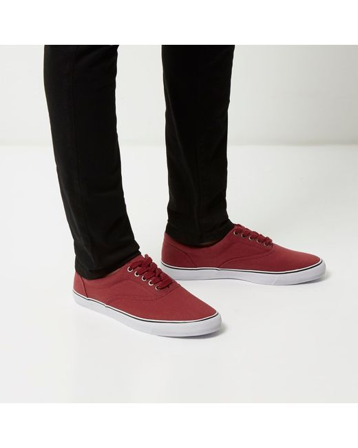 river island canvas plimsolls in for save 56