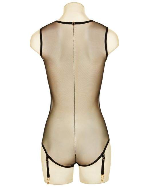 La Perla   Transparent Bodysuit With Suspender Straps   Lyst