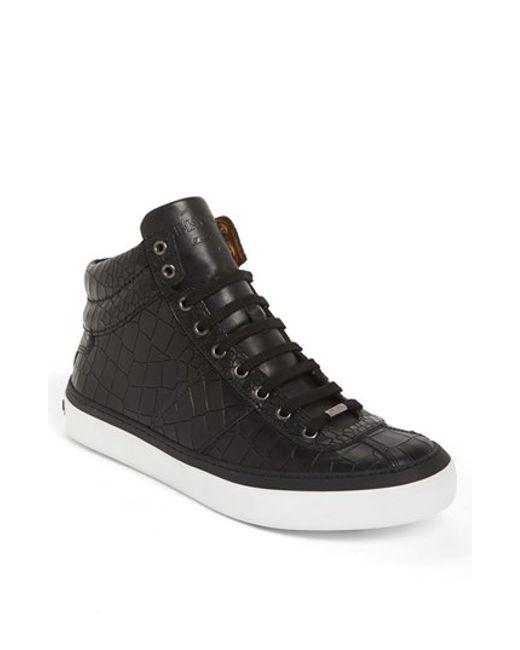 Jimmy Choo | Black 'belgravia' High Top Sneaker for Men | Lyst