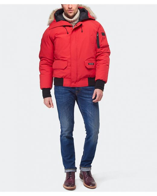 Canada Goose langford parka replica store - Canada goose Chateau Coyote-Trimmed Down-Filled Parka in Red for ...