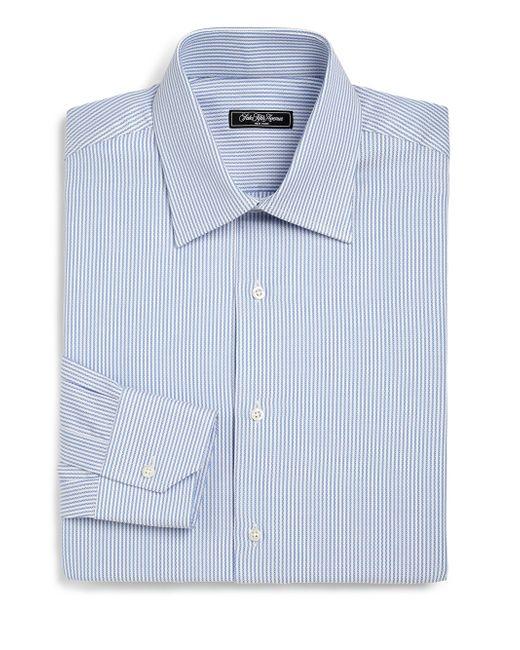 Saks Fifth Avenue | Blue Regular-fit Bengal Stripe Dress Shirt for Men | Lyst