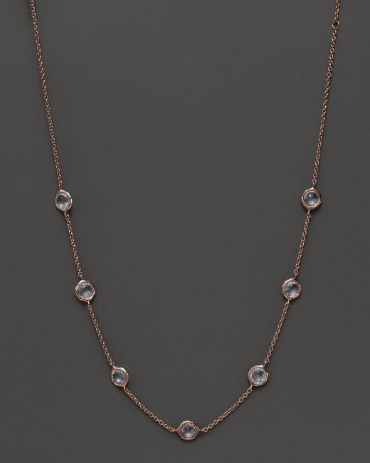 "Ippolita | White Rock Candy Rose Seven-stone Lollipop Necklace, 16"" | Lyst"