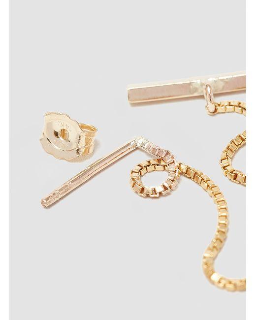 Alice Eden | Metallic T Bar Drop Earrings Gold | Lyst
