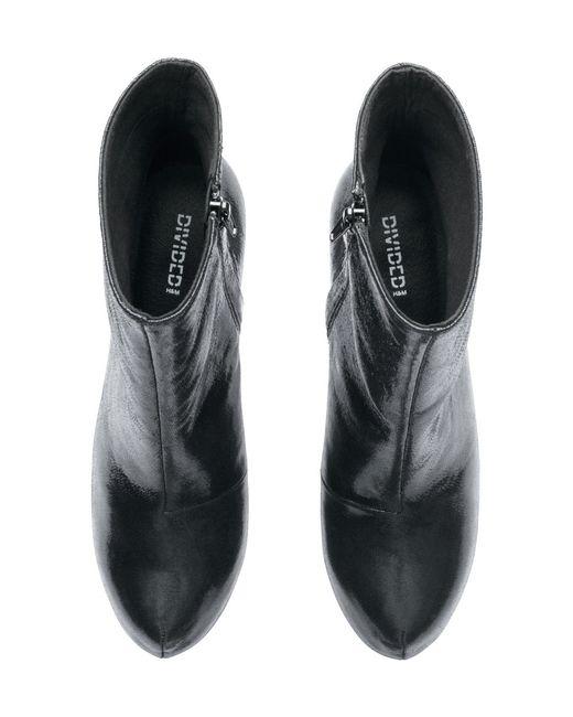 h m platform ankle boots in black lyst