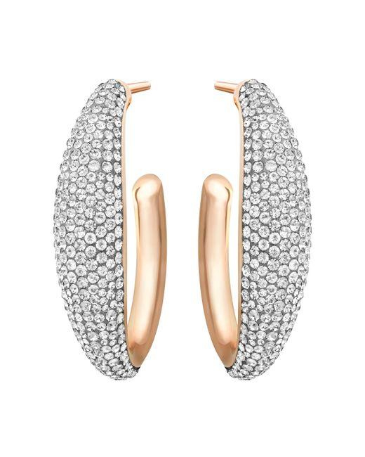 Swarovski | Metallic Circlet Hoop Pierced Earrings | Lyst