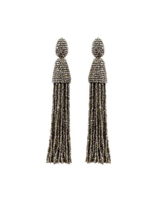 Oscar de la Renta | Metallic Classic Long Tassel Earrings | Lyst