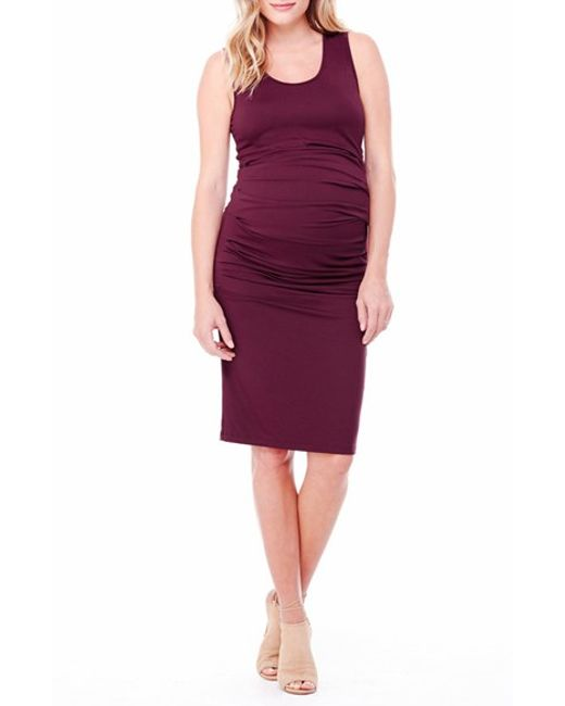 Ingrid & Isabel | Blue Ruched Maternity Tank Dress | Lyst