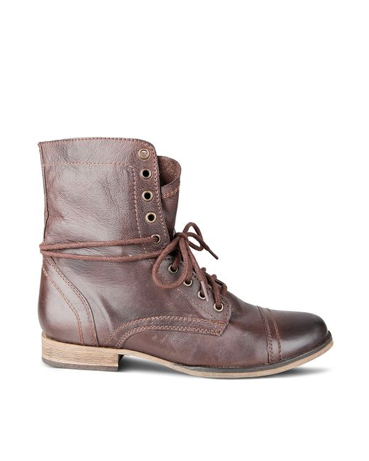 Steve Madden   Brown Troopah Lace-up Boot for Men   Lyst