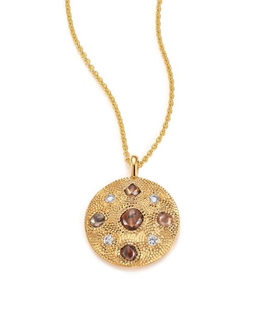 De Beers | Metallic Talisman Core Diamond & 18k Yellow Gold Pendant Necklace | Lyst