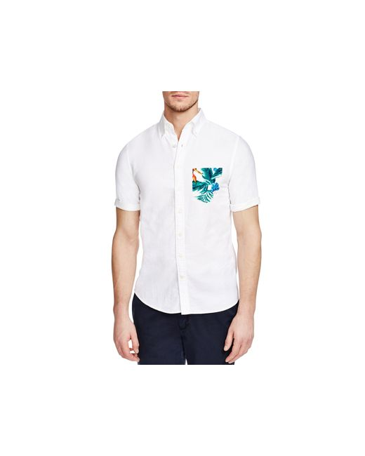 Gant Beach Oxford Slim Fit Button Down Shirt In White For