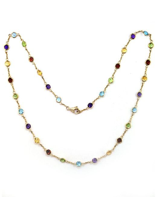 Effy | 14 Kt. Yellow Gold Multicolor Station Necklace | Lyst