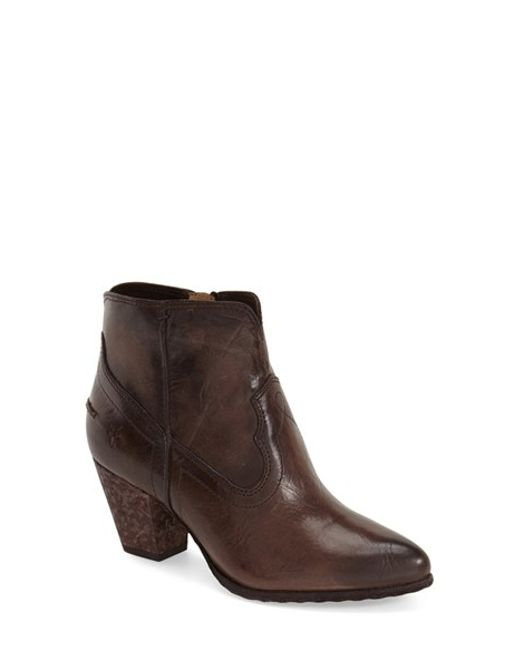Frye | Brown Renee Leather Ankle Boots | Lyst