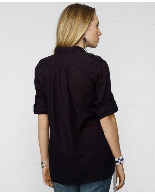 Denim Supply Ralph Lauren Roll Tab Sleeve Utility Shirt