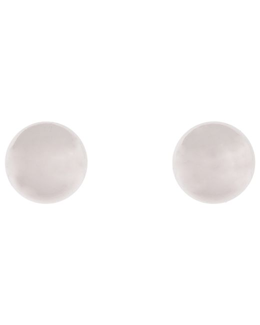 Lauren by Ralph Lauren | Metallic 12mm Silver Ball Studs | Lyst