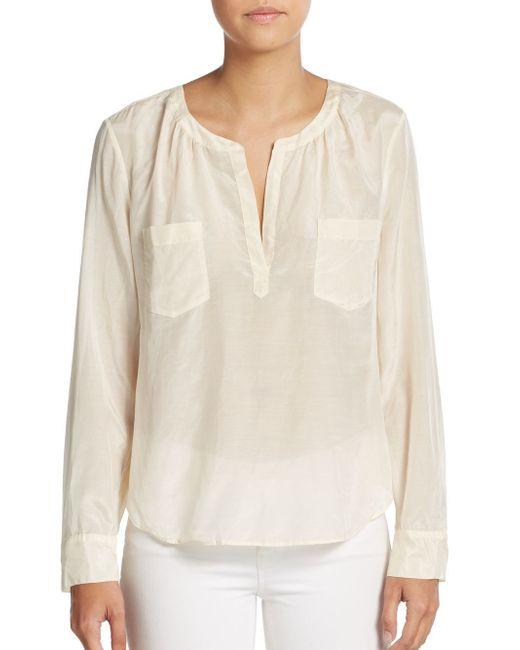 Calypso St. Barth | White Queria Pocket Top | Lyst