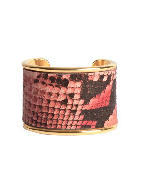 "Rachael Ruddick | Pink 2"" Leather Inlay Cuff | Lyst"