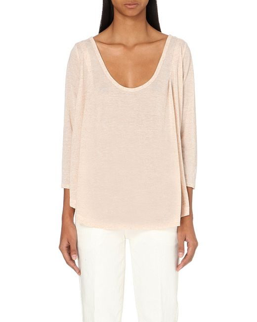 Free People | Natural Tambourine Jersey Top | Lyst