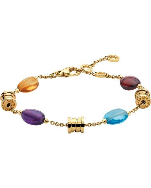 BVLGARI | Purple B.zero1 18kt Yellow-gold Bracelet | Lyst