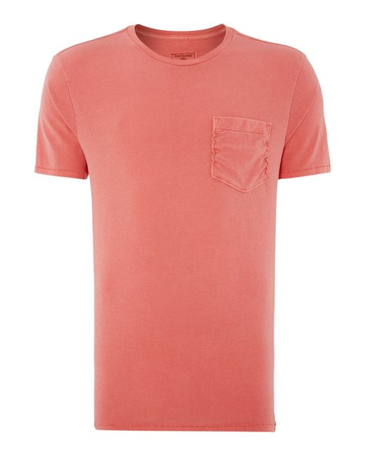 Dockers | Pink Plain Crew Neck T Shirt With Pocket for Men | Lyst