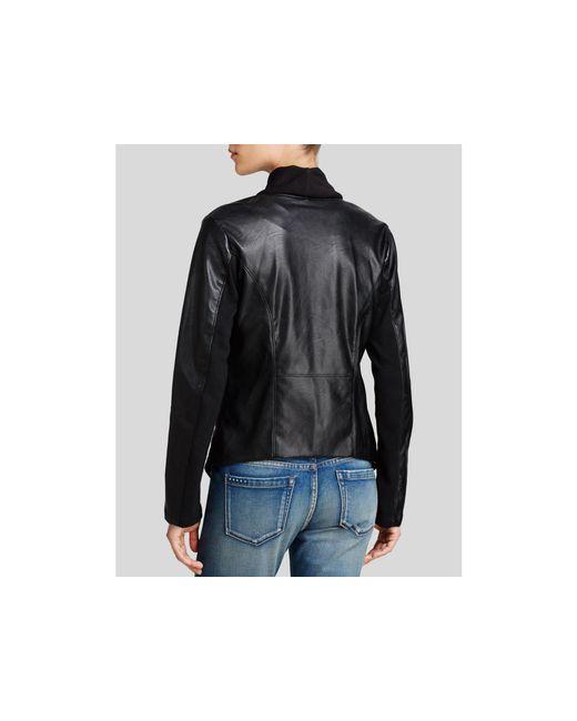 Blank Nyc Jacket Faux Leather Asymmetric Zip In Black Lyst