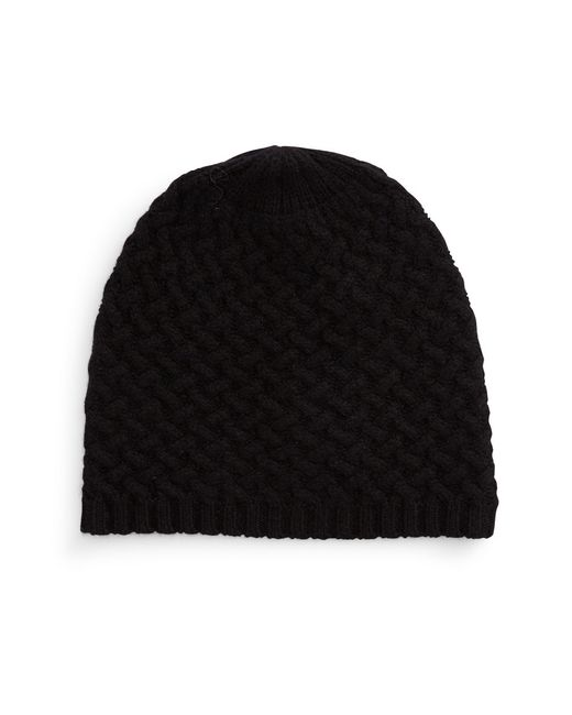 Lord & Taylor   Black Cashmere Knit Beanie   Lyst