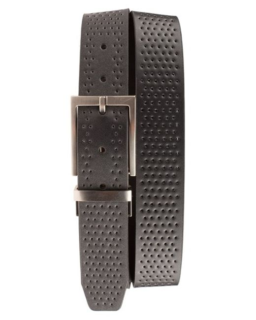 Nike | Black Reversible Leather Belt for Men | Lyst