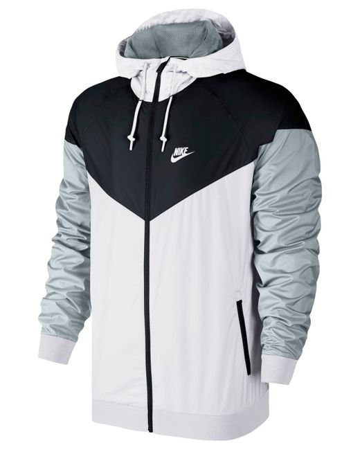 Nike Men S Windrunner Colorblocked Jacket In White For Men