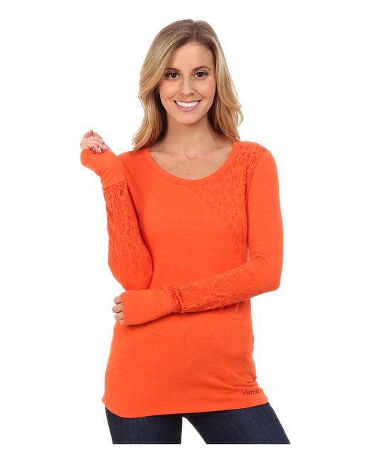 Marmot | Orange Kourtney Long Sleeve Top | Lyst