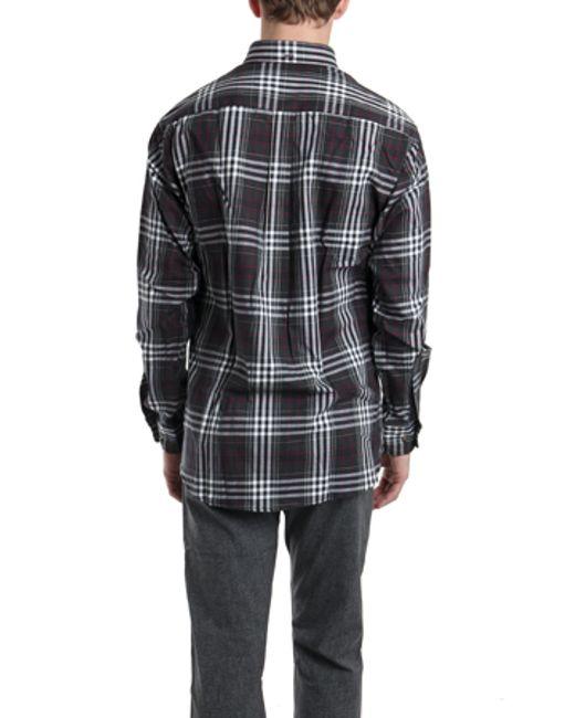 Blue Cream Black White Flannel Shirt In Black For Men Lyst