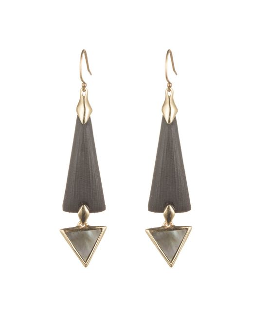 Alexis Bittar | Black Elongated Dangling Earring With Mother Of Pearl You Might Also Like | Lyst