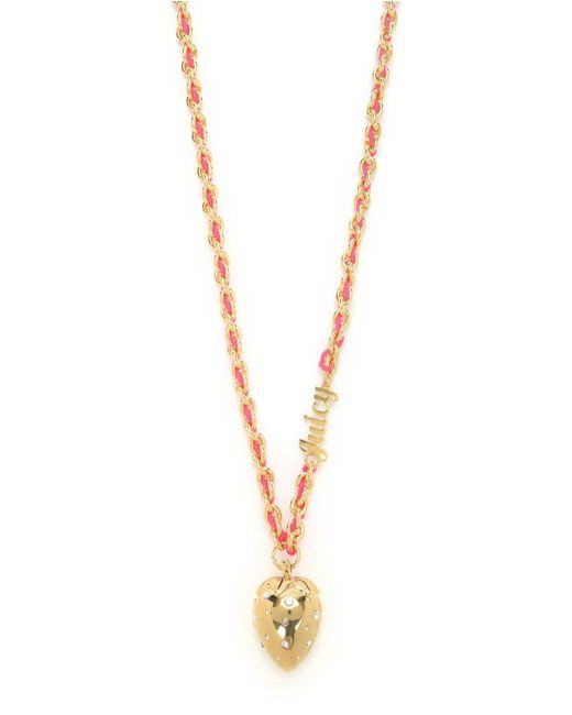 Juicy Couture | Orange Strawberry Pendant Necklace | Lyst