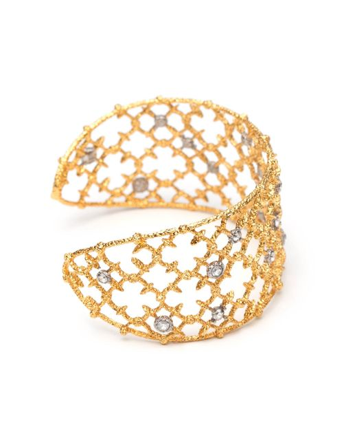 Alexis Bittar | Metallic Gold Crystal Studded Spur Lace Cuff Bracelet You Might Also Like | Lyst