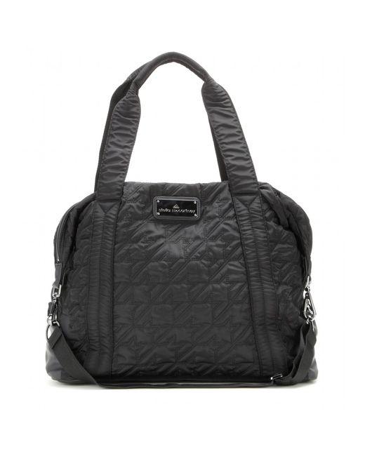Adidas By Stella Mccartney Black Quilted Gym Bag Lyst