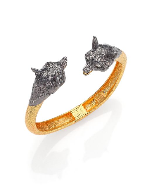 Alexis Bittar | Metallic Elements Dark Phoenix Crystal Fox Bypass Bracelet | Lyst