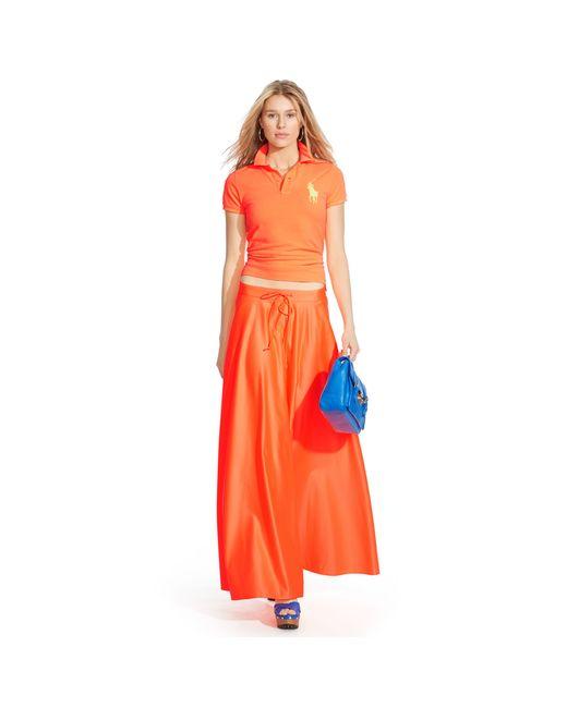 Polo Ralph Lauren | Orange Skinny-fit Big Pony Polo Shirt | Lyst