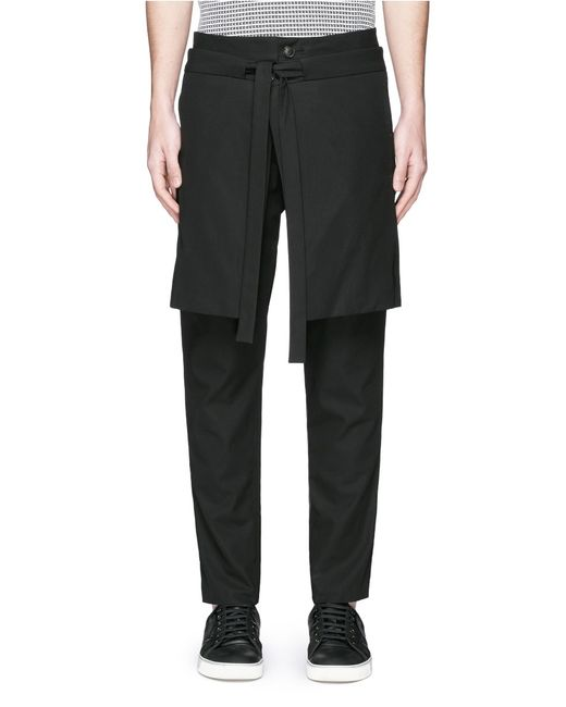 Excellent Martin Grant Pants With Skirt Overlay In Black  Lyst