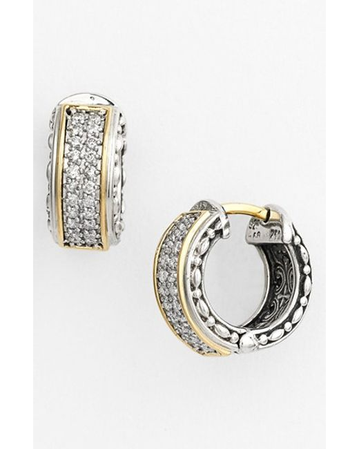 Konstantino | Metallic 'diamond Classics' Small Hoop Earrings | Lyst