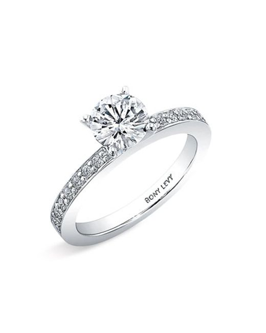 Bony Levy   White Channel Set Diamond Engagement Ring Setting (nordstrom Exclusive)   Lyst