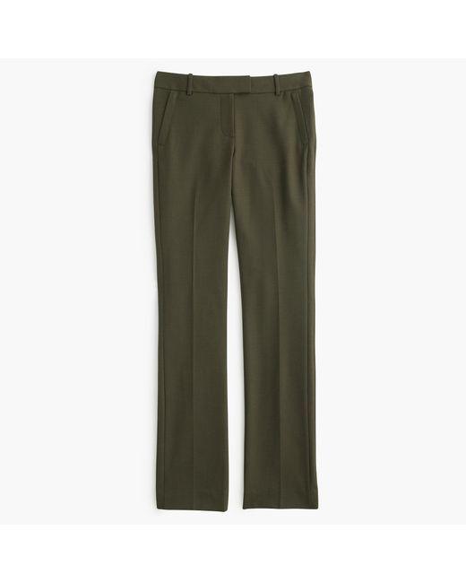 J.Crew | Green Petite Campbell Trouser In Bi-stretch Wool | Lyst
