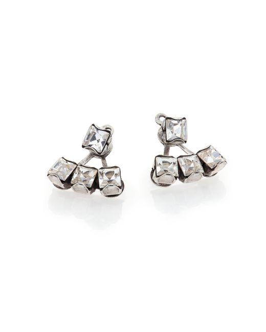 DANNIJO | Metallic Donna Crystal Ear Jacket & Stud Earrings Set | Lyst