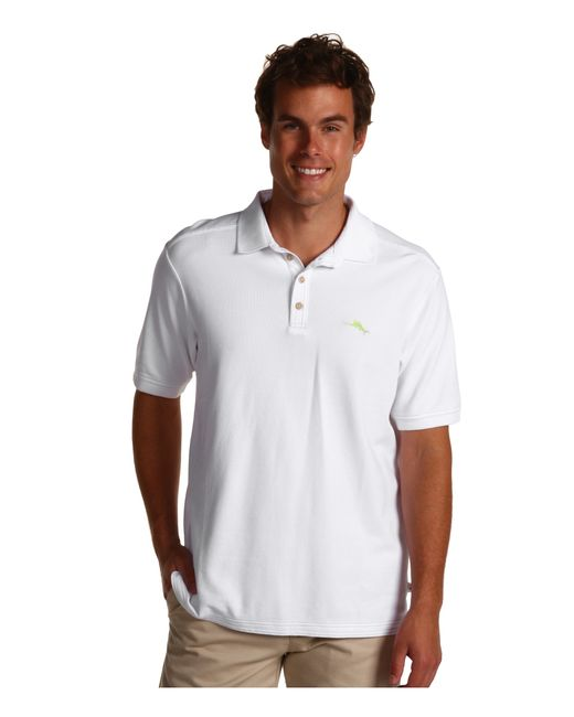 Tommy Bahama The Emfielder Polo Shirt In White For Men Lyst